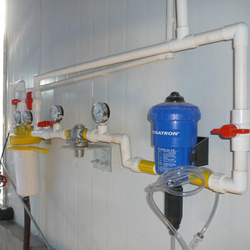 Waterline and dosing system